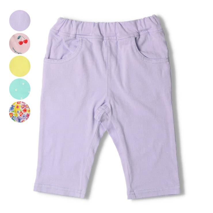 【子供服】moujonjon(ムージョンジョン)無地・総柄6分丈パンツ80cm~130cmM35126 | 詳細画像