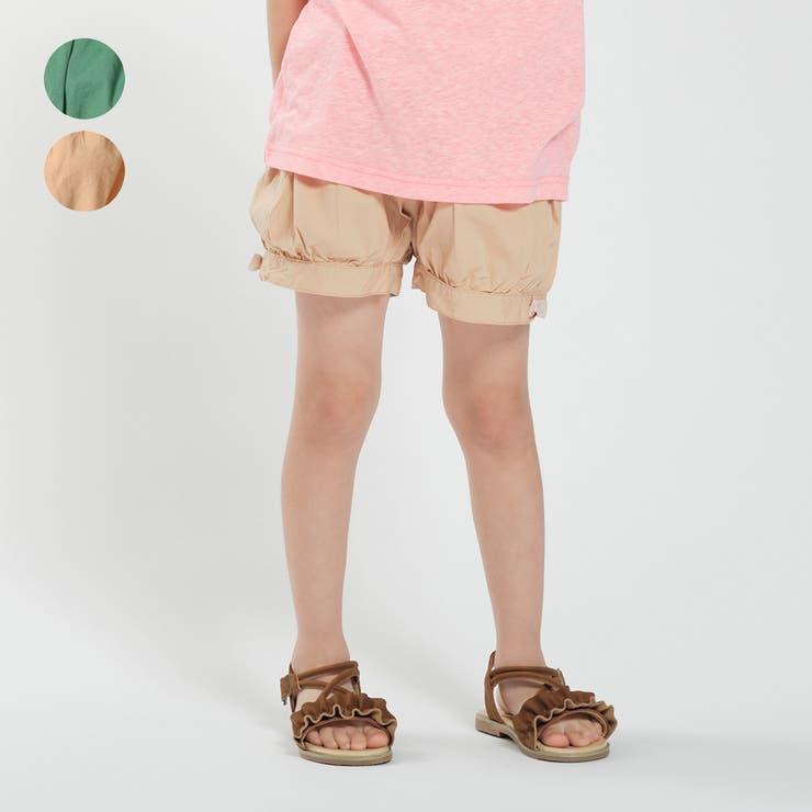 【子供服】moujonjon(ムージョンジョン)無地バルーンショートパンツ90cm~140cmM35163   詳細画像