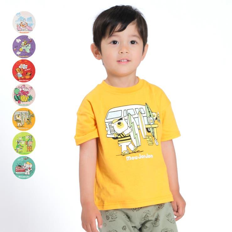 【子供服】moujonjon(ムージョンジョン)ネット限定日本製動物キャラクターTシャツ90cm~140cmM44805 | 詳細画像
