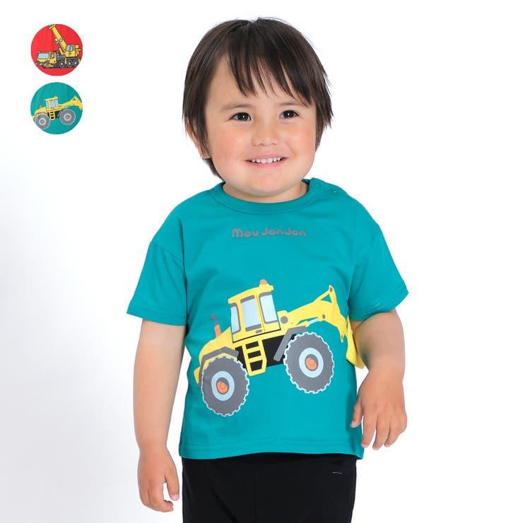 【子供服】moujonjon(ムージョンジョン)働く車プリントTシャツ80cm~120cmM44851 | 詳細画像