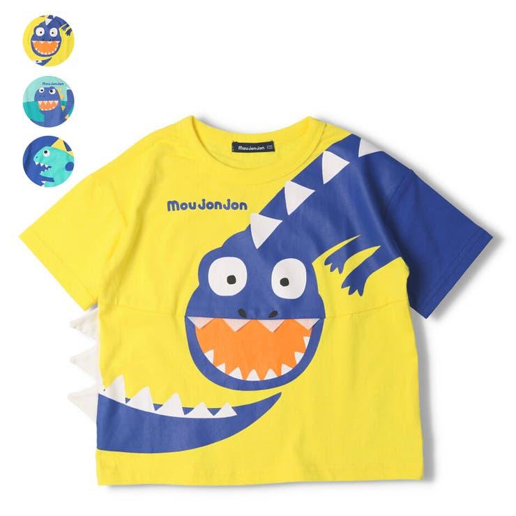【子供服】moujonjon(ムージョンジョン)恐竜プリントTシャツ80cm~120cmM44854 | 詳細画像