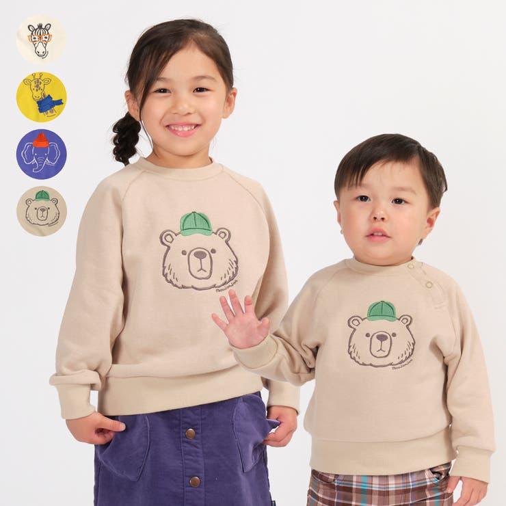 moujonjon 日本製動物刺繍裏毛トレーナー キッズ   こどもの森e-shop   詳細画像1