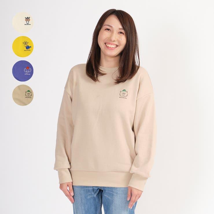 moujonjon 日本製大人 ママサイズ動物裏毛トレーナー   こどもの森e-shop   詳細画像1