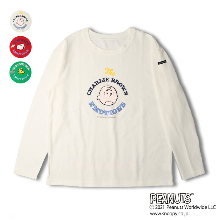 moujonjon 大人 ママサイズスヌーピーTシャツ | こどもの森e-shop | 詳細画像1