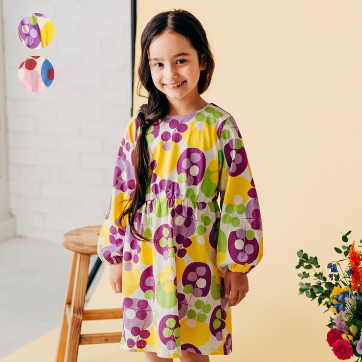 【子供服】WILLMERY(ウィルメリー)お花ドット柄ワンピース80cm~130cmN24300   詳細画像