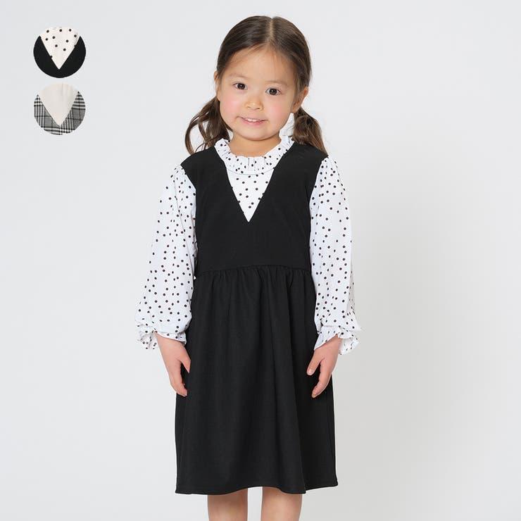 【子供服】WILLMERY(ウィルメリー)ジャンパースカート風ワンピース80cm~130cmN24304 | 詳細画像