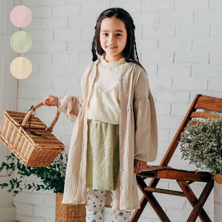 【子供服】WILLMERY(ウィルメリー)前開き無地ワンピース80cm~130cmN24309 | 詳細画像