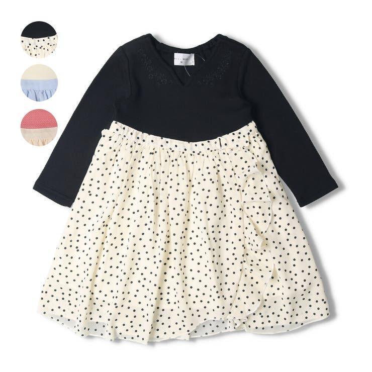 【子供服】WILLMERY(ウィルメリー)お花刺繍シフォンスカートワンピース80cm~130cmN24312 | 詳細画像