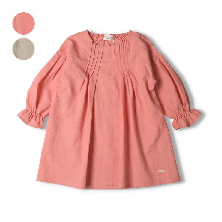 【子供服】WILLMERY(ウィルメリー)綿麻ワンピース80cm~130cmN24318 | 詳細画像