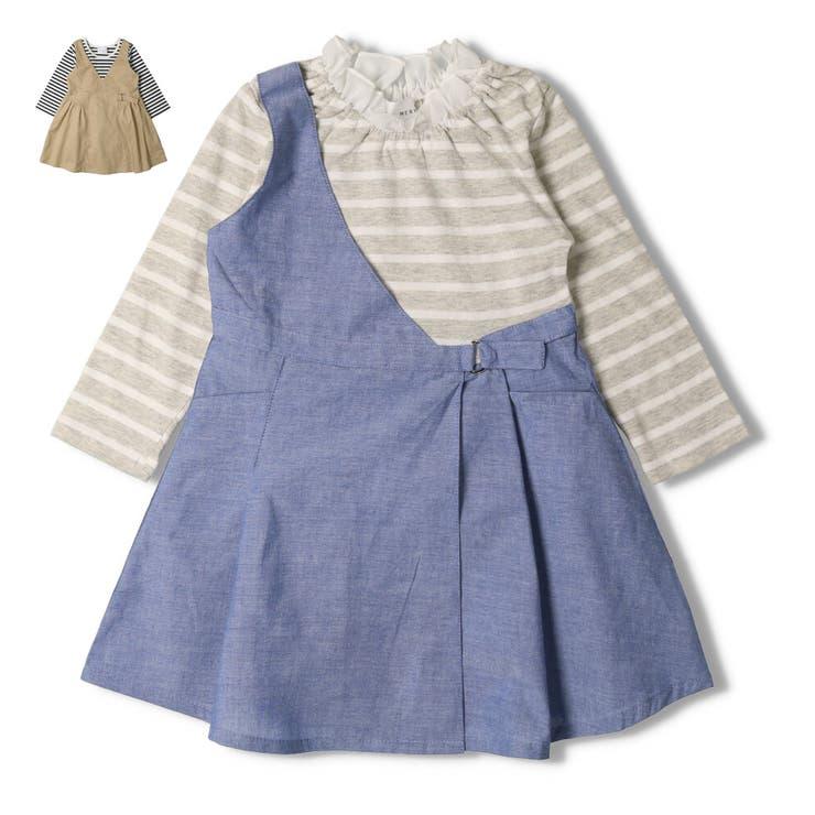 【子供服】WILLMERY(ウィルメリー)重ね着風ワンピース80cm~130cmN24320   詳細画像