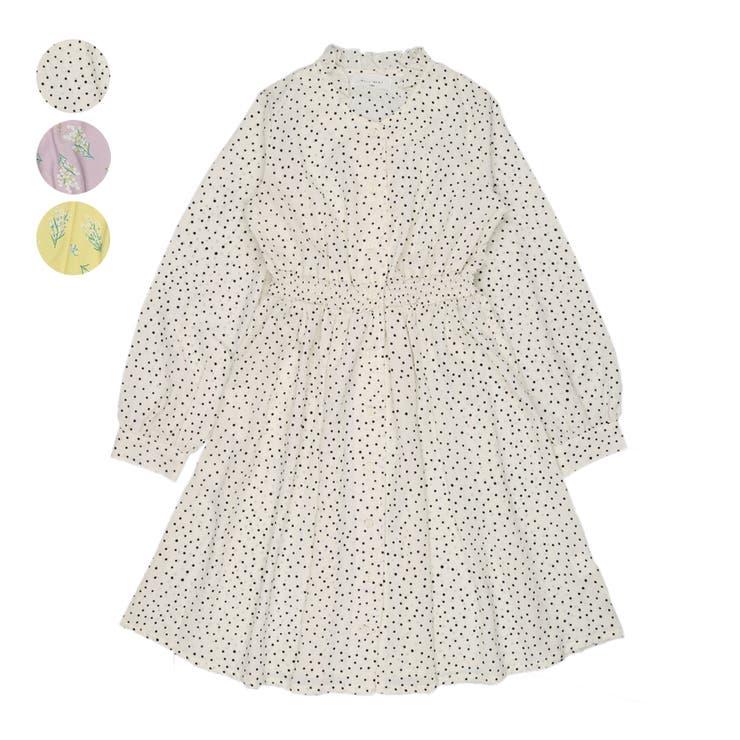 【子供服】WILLMERY(ウィルメリー)水玉・花柄シフォン前開きワンピース140cm~160cmN24321 | 詳細画像