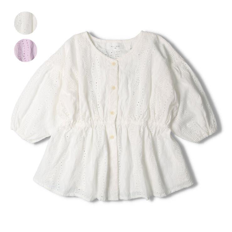 【子供服】WILLMERY(ウィルメリー)綿レースブラウス140cm~160cmN24404   詳細画像