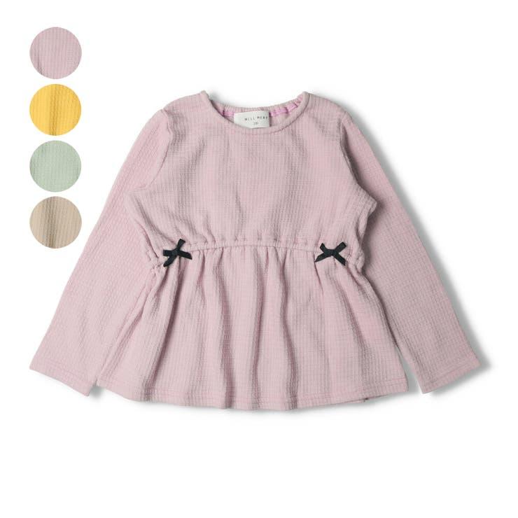 【子供服】WILLMERY(ウィルメリー)リボン付きTシャツ80cm~130cmN24809 | 詳細画像