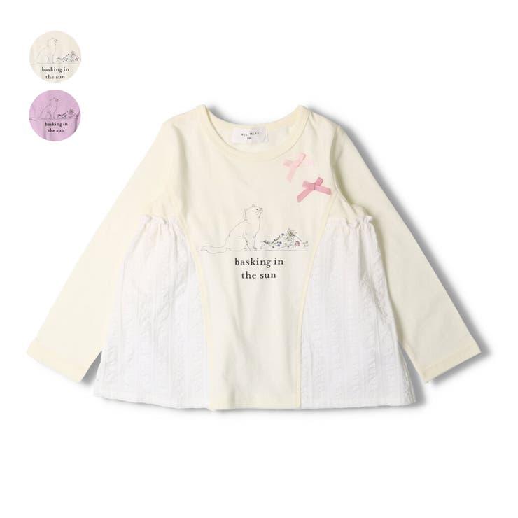WILL MERY ネコプリント切替Tシャツ | こどもの森e-shop | 詳細画像1