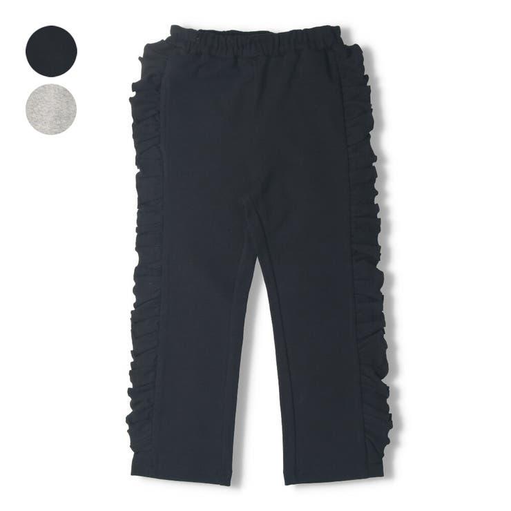 【子供服】WILLMERY(ウィルメリー)脇フリル無地パンツ80cm~130cmN25007 | 詳細画像