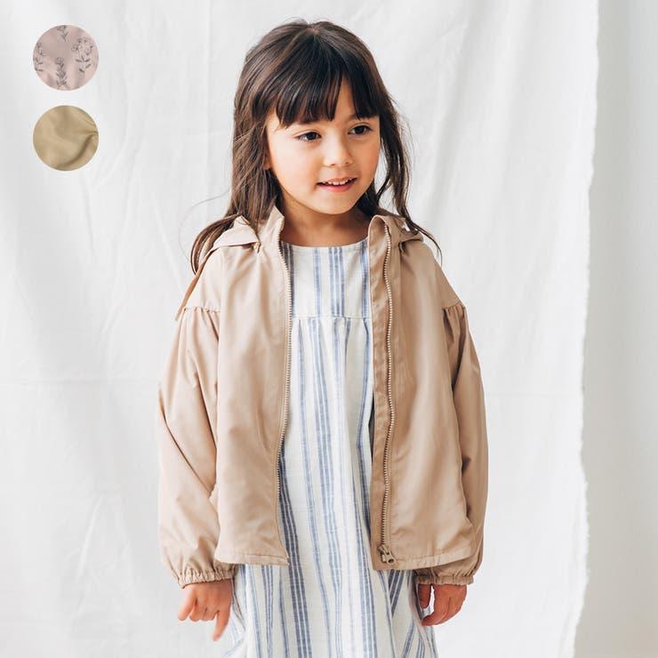 【子供服】WILLMERY(ウィルメリー)無地・花柄パーカージャケット80cm~130cmN44100 | 詳細画像