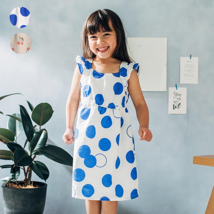 【子供服】WILLMERY(ウィルメリー)ドット・チェリー柄ワンピース80cm~130cmN44308 | 詳細画像
