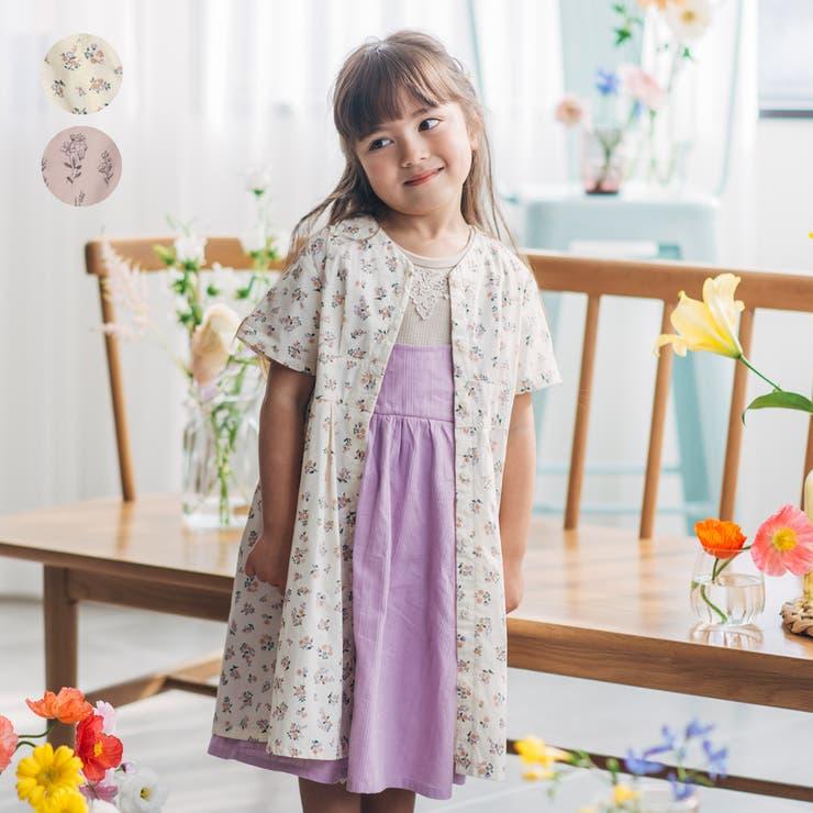 【子供服】WILLMERY(ウィルメリー)花柄前開きワンピース80cm~130cmN44312 | 詳細画像