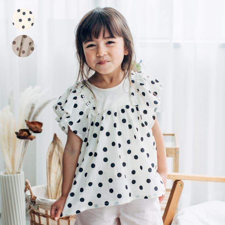 【子供服】WILLMERY(ウィルメリー)ドット柄チュニックTシャツ80cm~130cmN44810 | 詳細画像