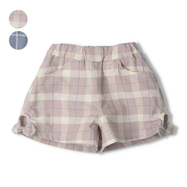 【子供服】WILLMERY(ウィルメリー)チェック柄ショートパンツ80cm~130cmN45105 | 詳細画像