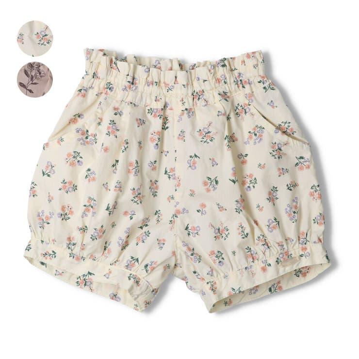 【子供服】WILLMERY(ウィルメリー)花柄ショートパンツ80cm~130cmN45111 | 詳細画像