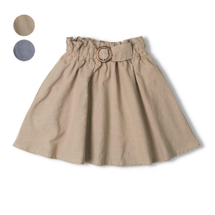 【子供服】WILLMERY(ウィルメリー)5分丈無地フレアースカート80cm~130cmN45201   詳細画像