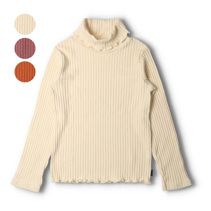 【子供服】WILLMERY(ウィルメリー)表起毛リブ無地タートルネックTシャツ140cm~160cmN62815 | 詳細画像