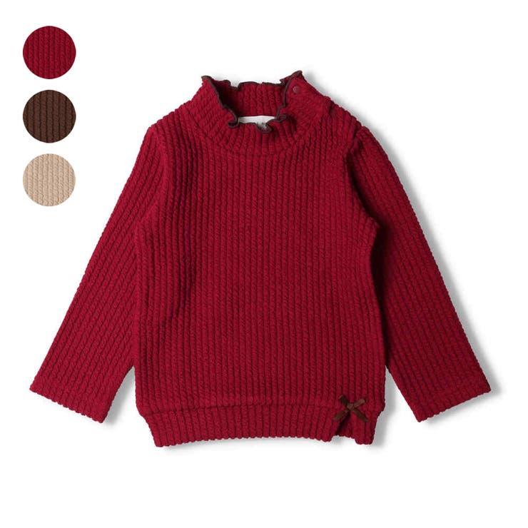 WILL MERY ケーブルニットハイネック無地Tシャツ | こどもの森e-shop | 詳細画像1