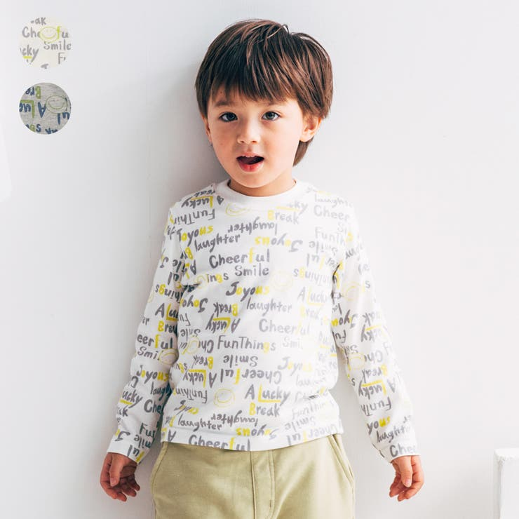 【子供服】LBCLUB(エルビークラブ)日本製ロゴ・スマイル柄抗菌防臭Tシャツ80cm~130cmS14855 | 詳細画像