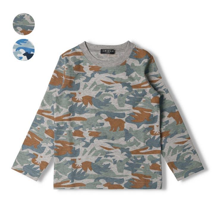 【子供服】LBCLUB(エルビークラブ)日本製迷彩動物柄抗菌防臭加工Tシャツ80cm~130cmS14858 | 詳細画像
