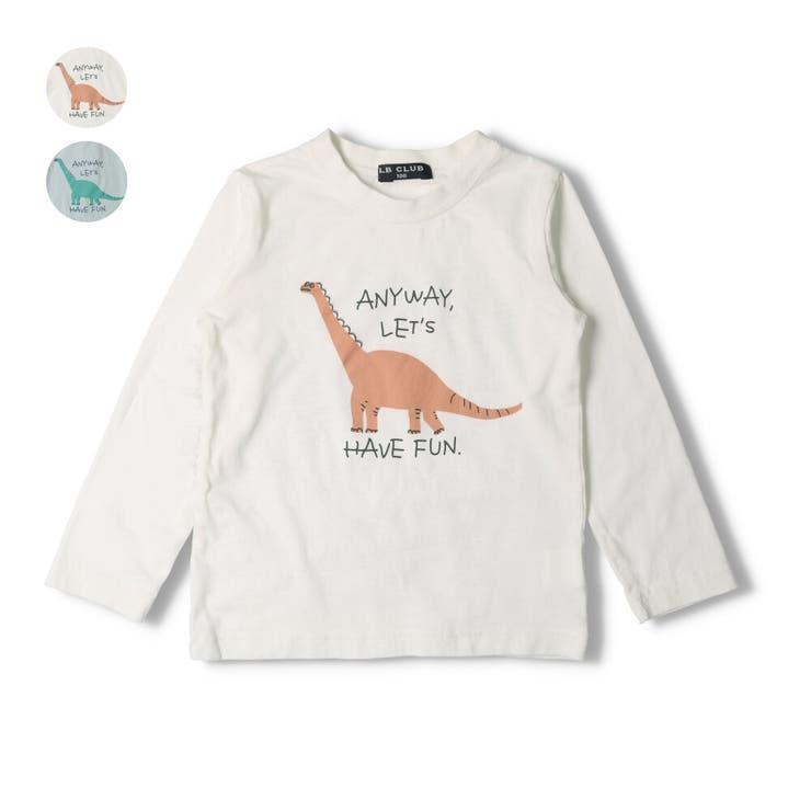 【子供服】LBCLUB(エルビークラブ)恐竜プリントTシャツ80cm~130cmS14861 | 詳細画像