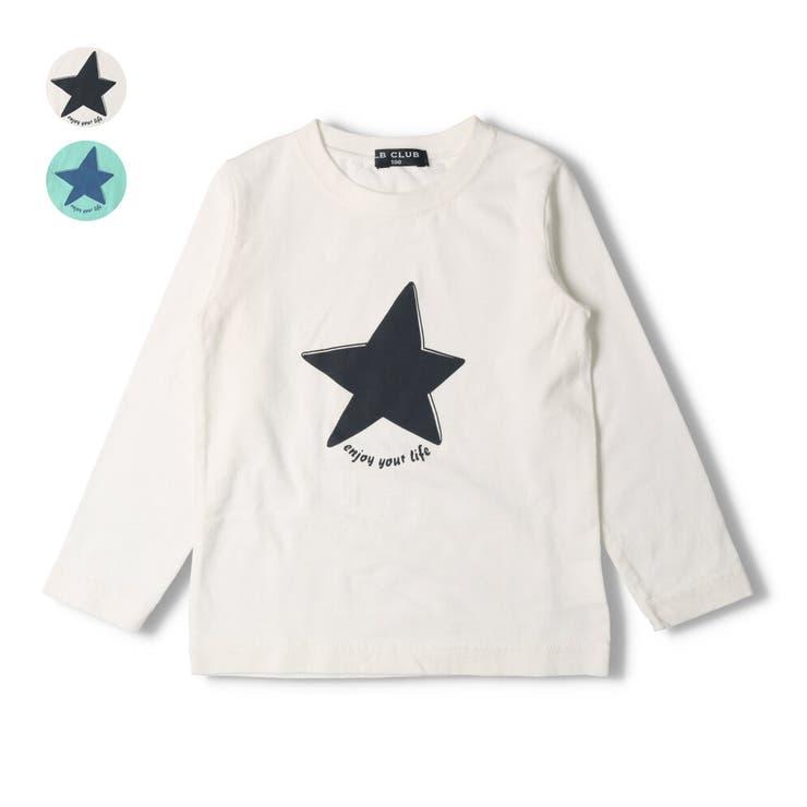 【子供服】LBCLUB(エルビークラブ)星プリントTシャツ80cm~130cmS14863 | 詳細画像