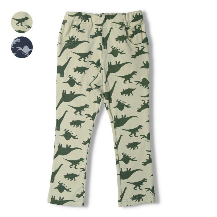 【子供服】LBCLUB(エルビークラブ)スパンフライス恐竜柄パンツ80cm~130cmS15061 | 詳細画像