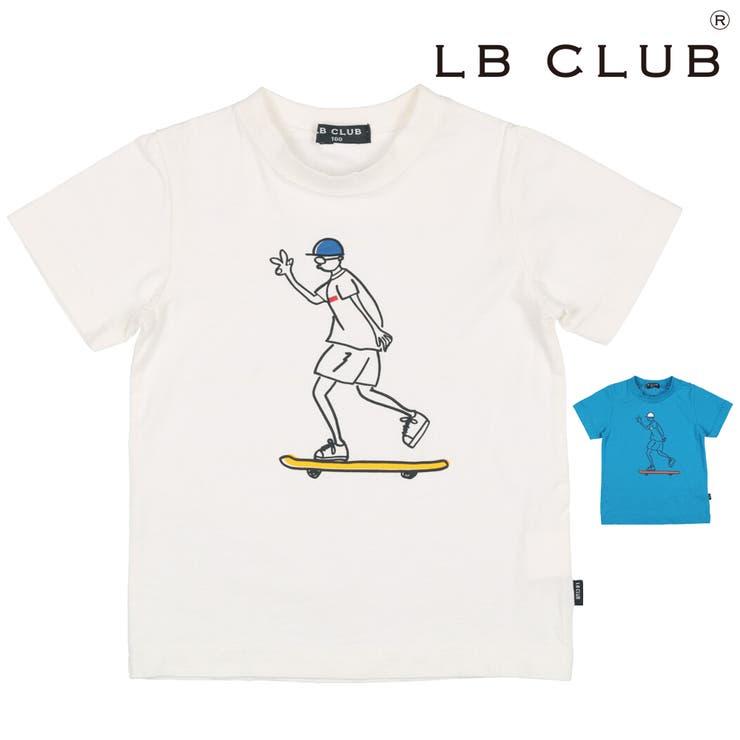 【子供服】LBCLUB(エルビークラブ)手描き風スケボープリントTシャツ80cm~130cmS32862 | 詳細画像