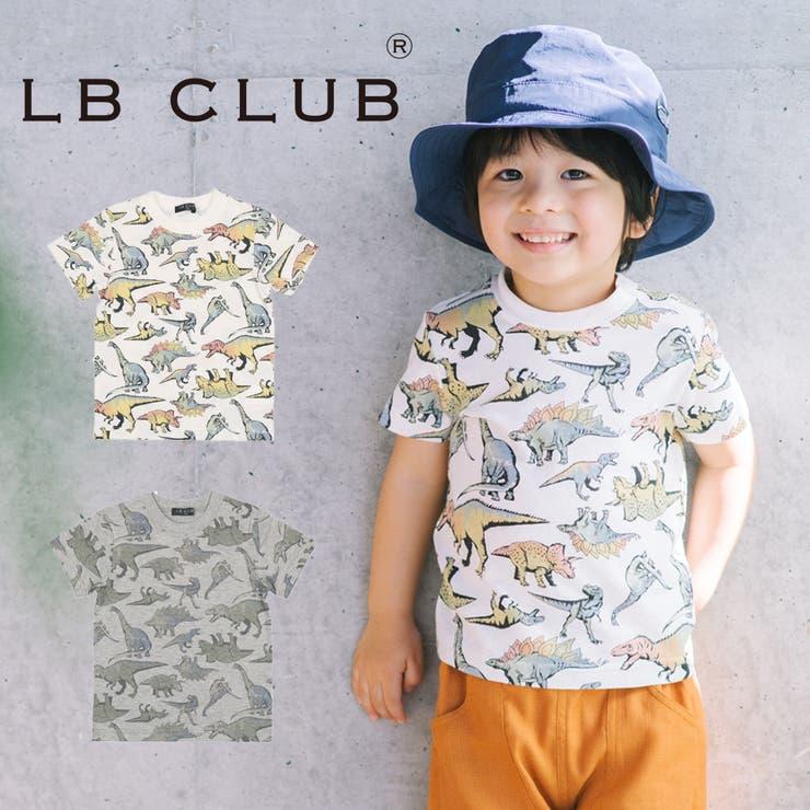 【子供服】LBCLUB(エルビークラブ)日本製リアル恐竜柄総柄半袖Tシャツ80cm~130cmS32869 | 詳細画像