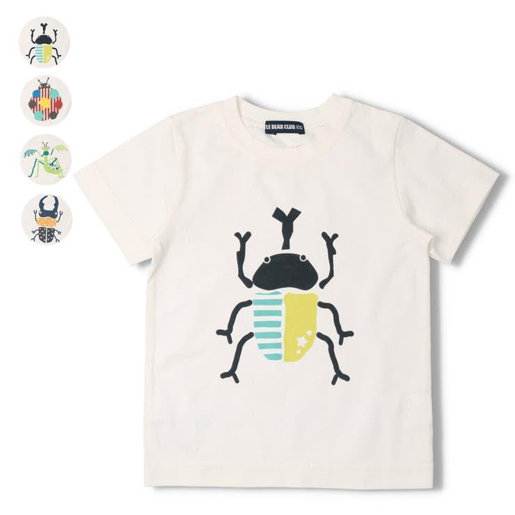 【子供服】LITTLEBEARCLUB(リトルベアークラブ)虫プリントTシャツ80cm~130cmS34814   詳細画像