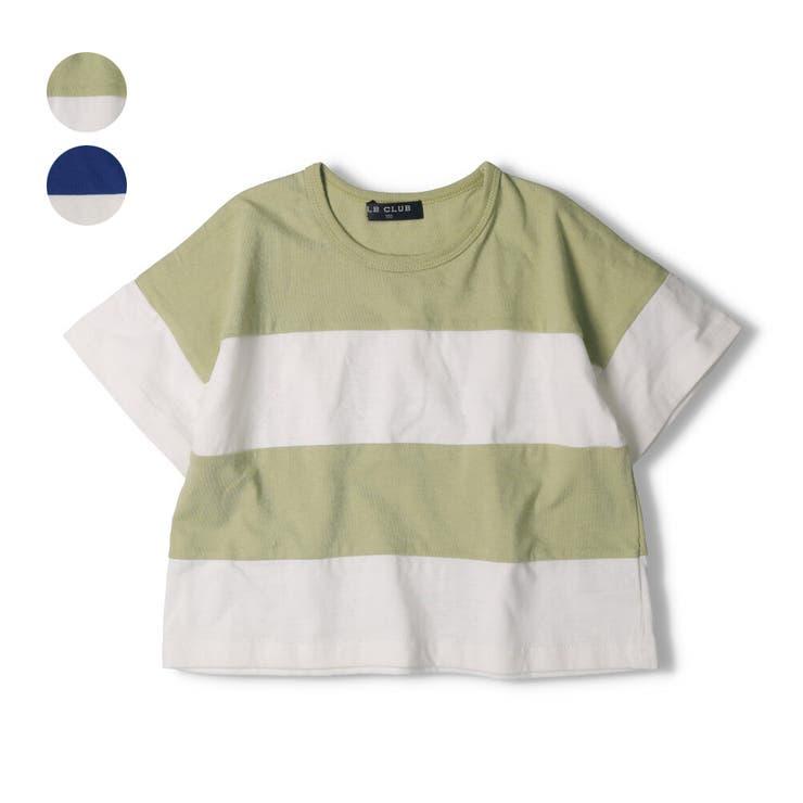 【子供服】LBCLUB(エルビークラブ)切替ワイドTシャツ80cm~130cmS34855 | 詳細画像