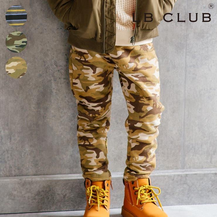 【子供服】LBCLUB(エルビークラブ)迷彩カモフラ・ボーダー柄裏毛パンツ80cm~130cmS53059 | 詳細画像