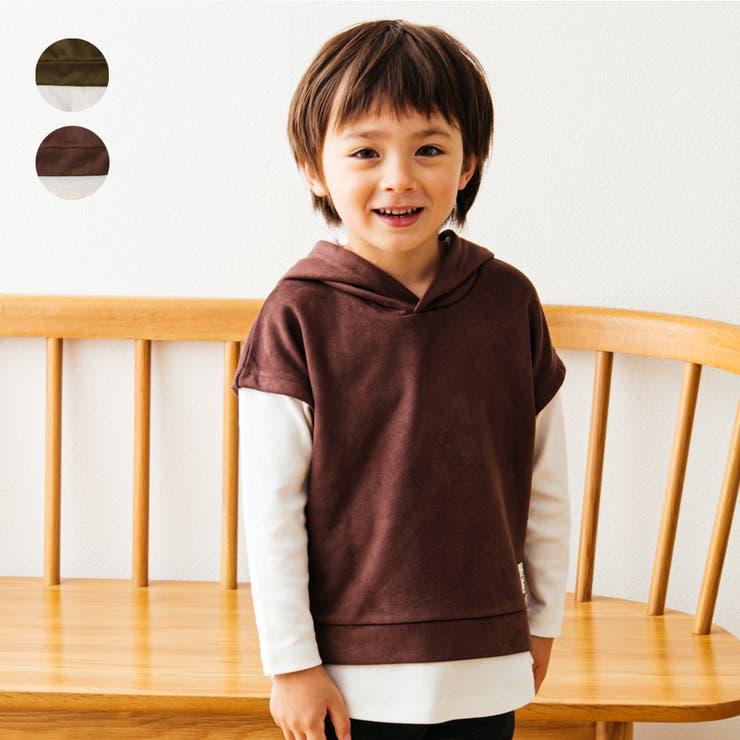 LB CLUB スエードライク裏毛重ね着風Tシャツ | こどもの森e-shop | 詳細画像1