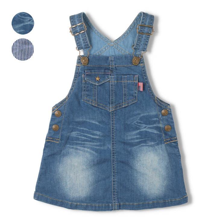 【子供服】DaddyOhDaddy(ダディオダディ)デニムジャンパースカート80cm~150cmV14333 | 詳細画像