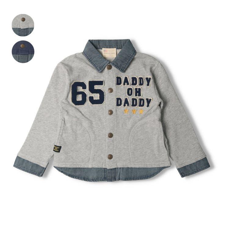 【子供服】DaddyOhDaddy(ダディオダディ)シャツ重ね着風カーディガン90cm~150cmV14420 | 詳細画像