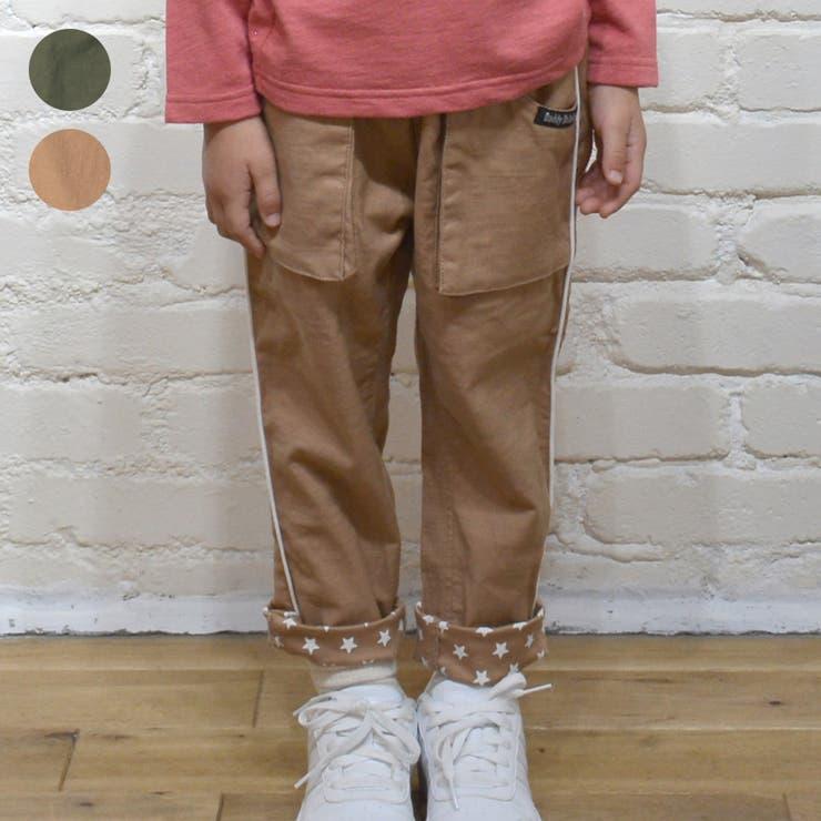 【子供服】DaddyOhDaddy(ダディオダディ)裾星柄脇パイピングパンツ80cm~150cmV15021 | 詳細画像