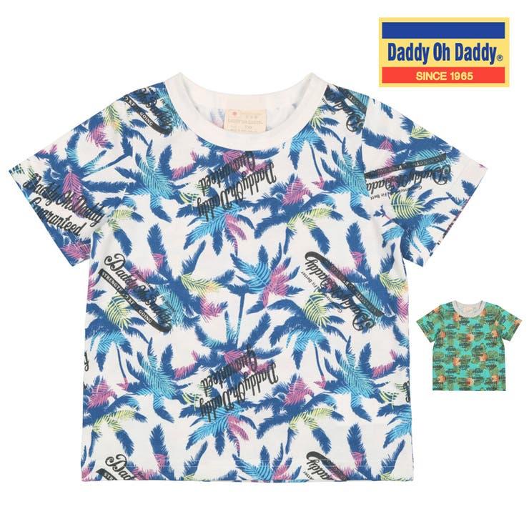 【子供服】DaddyOhDaddy(ダディオダディ)日本製ヤシの木・パイナップル柄Tシャツ80cm~150cmV32823 | 詳細画像