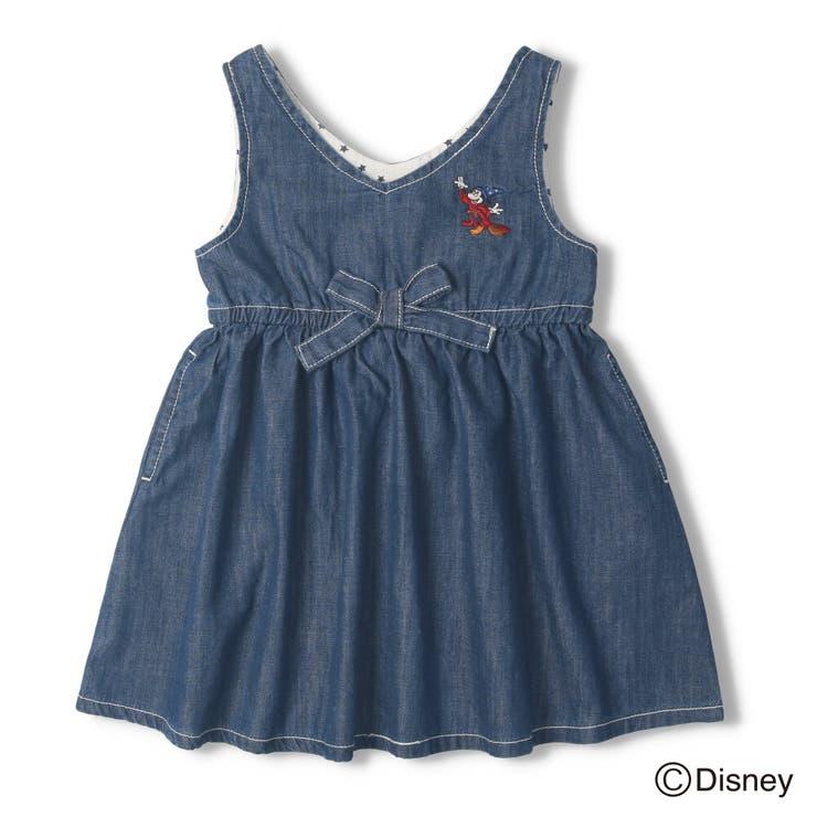 【子供服】DaddyOhDaddy(ダディオダディ)ミッキーデザインジャンパースカート90cm~150cmV34300 | 詳細画像