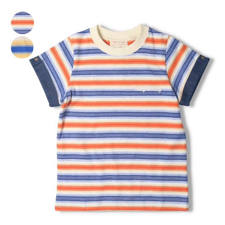 【子供服】DaddyOhDaddy(ダディオダディ)日本製ボーダーTシャツ80cm~150cmV34821 | 詳細画像