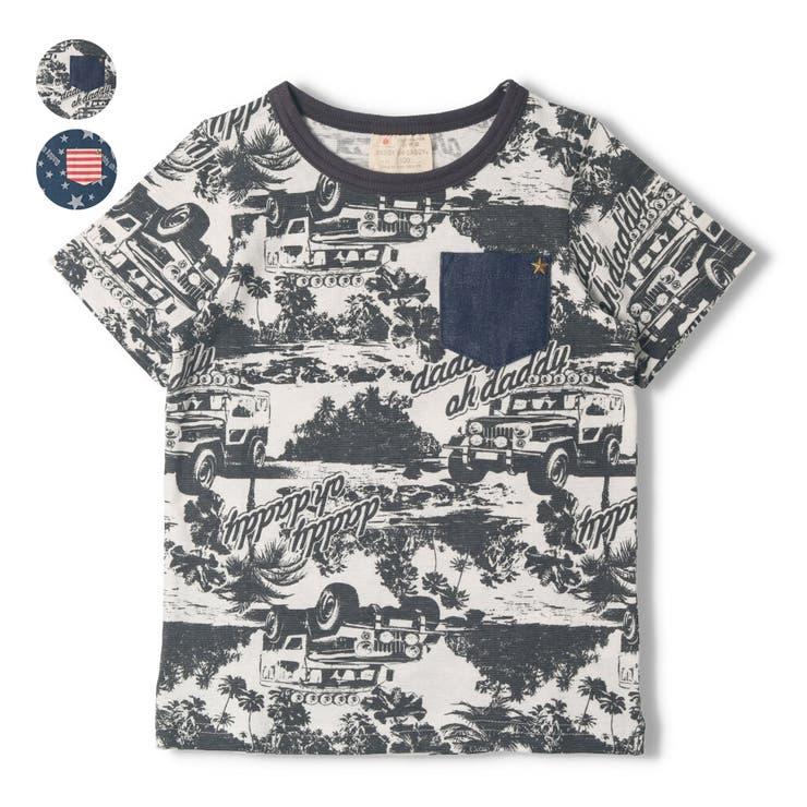 【子供服】DaddyOhDaddy(ダディオダディ)日本製車・ロゴ星柄Tシャツ80cm~150cmV34824 | 詳細画像