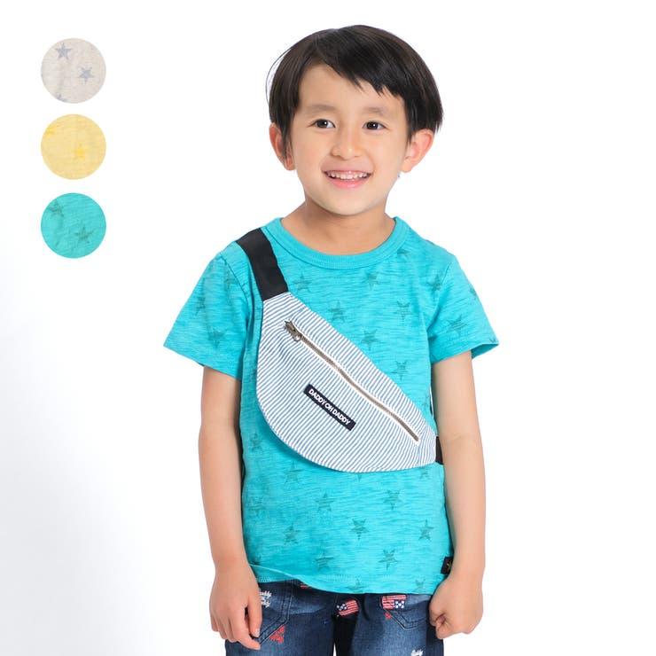 【子供服】DaddyOhDaddy(ダディオダディ)ボディバック付き星シャドーTシャツ80cm~150cmV34844   詳細画像