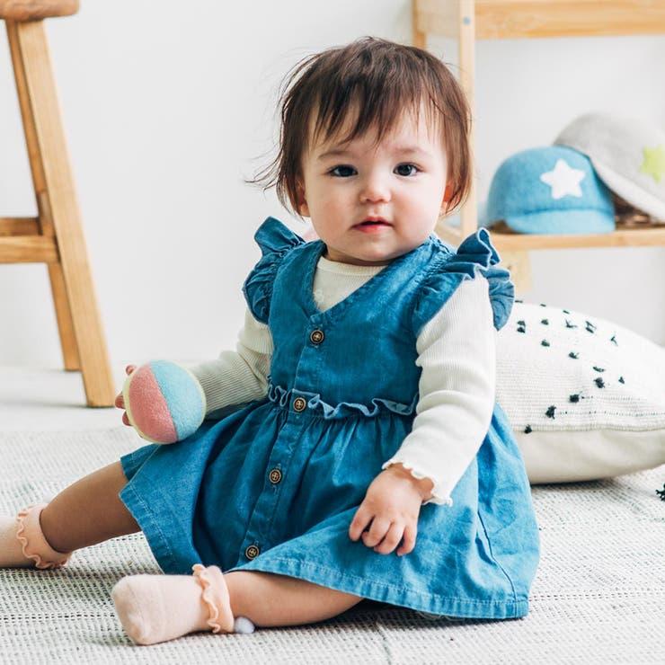 【子供服】kid´szoo(キッズズー)デニムチュニック70cm~95cmW24910 | 詳細画像