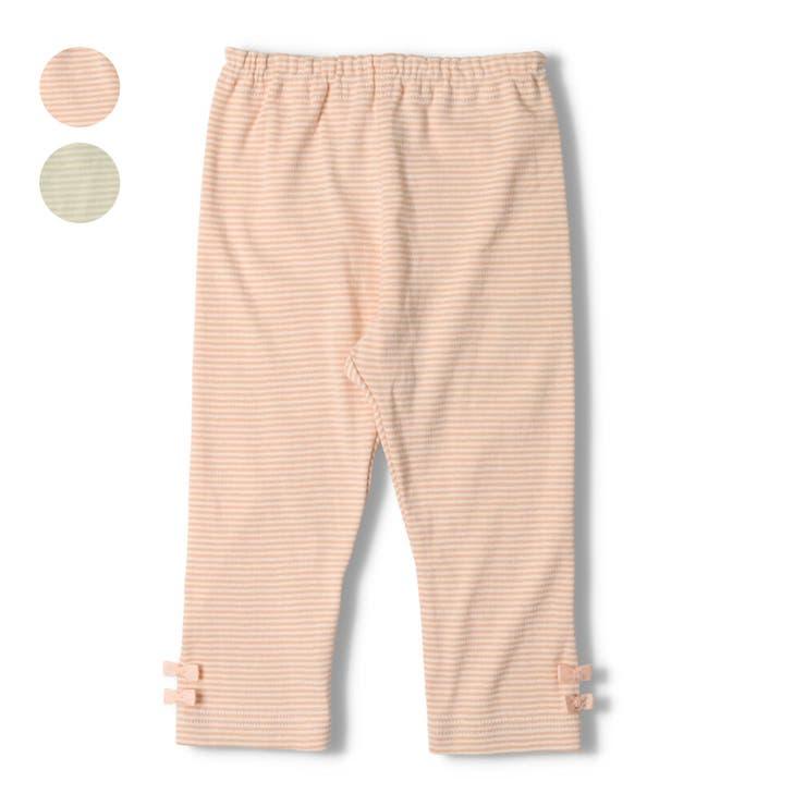 kid´s zoo 裾リボン付きボーダーレギンス   こどもの森e-shop   詳細画像1