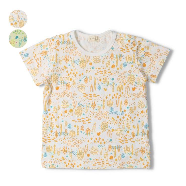 【子供服】kid´szoo(キッズズー)アクアリウム総柄Tシャツ70cm~90cmW34811 | 詳細画像